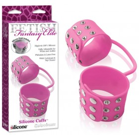 Menottes en silicone Fetish Fantasy Elite rose