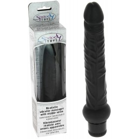 Vibromasseur black fin réaliste Multi Speed - 20 cm